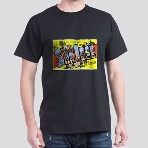 San Jose California Greetings (Front) Dark T-Shirt