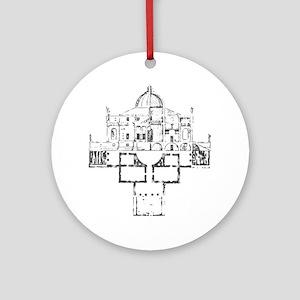 Andrea Palladio Villa Rotunda Ornament (Round)