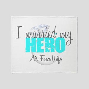 AF Wife I married my Hero Throw Blanket