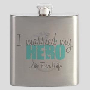 AF Wife I married my Hero Flask