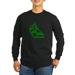 Green Sailboat Long Sleeve Dark T-Shirt