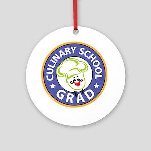 Culinary School Grad Ornament (Round)