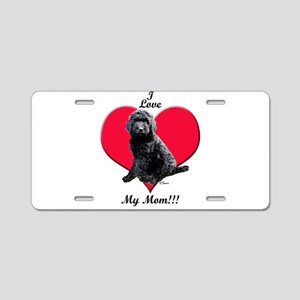 I Love My Mom!!! Black Goldendoodle Aluminum Licen