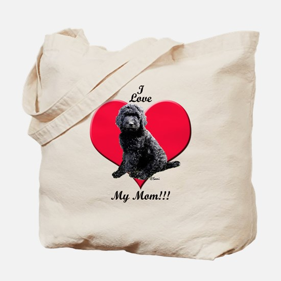 I Love My Mom!!! Black Goldendoodle Tote Bag
