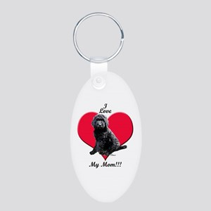 I Love My Mom!!! Black Goldendoodle Keychains