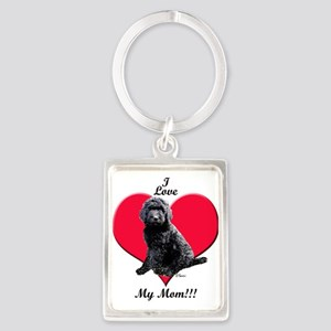 I Love My Mom!!! Black Goldendoodle Keychains