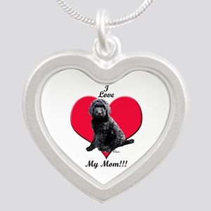 I Love My Mom!!! Black Goldendoodle Necklaces