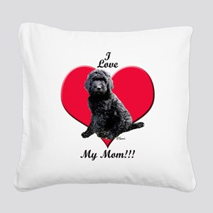 I Love My Mom!!! Black Goldendoodle Square Canvas