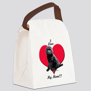 I Love My Mom!!! Black Goldendoodle Canvas Lunch B