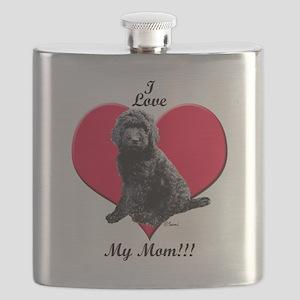 I Love My Mom!!! Black Goldendoodle Flask