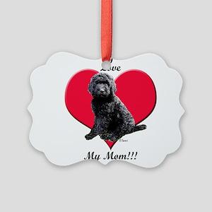 I Love My Mom!!! Black Goldendoodle Ornament