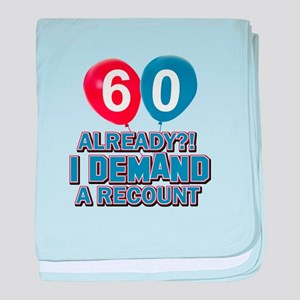 60 years birthday gifts baby blanket