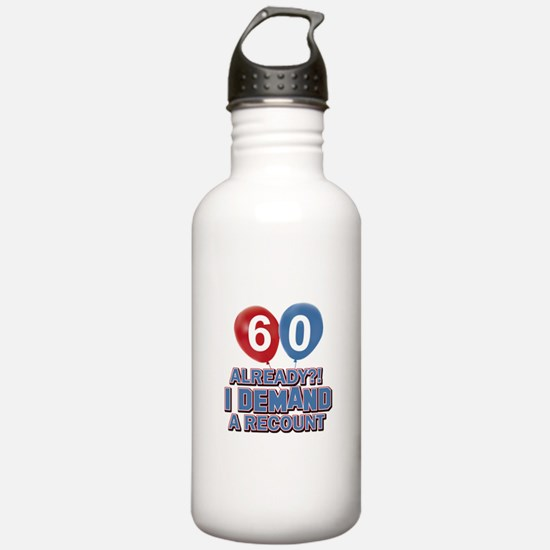60 years birthday gifts Water Bottle