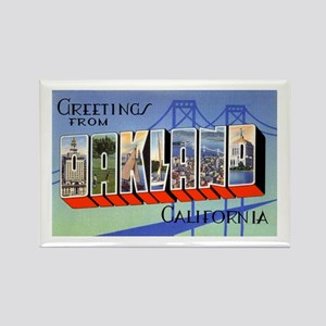 Oakland California Greetings Rectangle Magnet