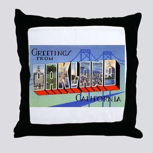 Oakland California Greetings Throw Pillow
