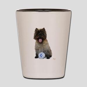 Cairn Terrier Football Scotland Shot Glass