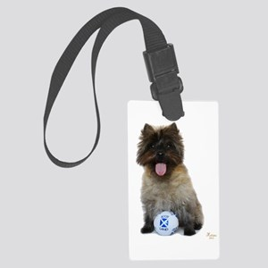 Cairn Terrier Football Scotland Large Luggage Tag