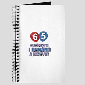 65 years birthday gifts Journal