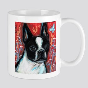 Portrait of smiling Boston Terrier Mug