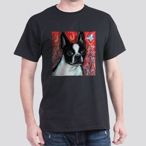 Portrait of smiling Boston Terrier T-Shirt