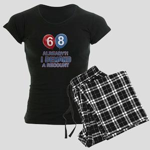 68 years birthday gifts Women's Dark Pajamas