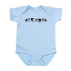 Random Skull Pattern Infant Bodysuit