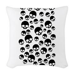 Random Skull Pattern Woven Throw Pillow