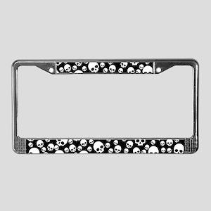 Random Skull Pattern License Plate Frame