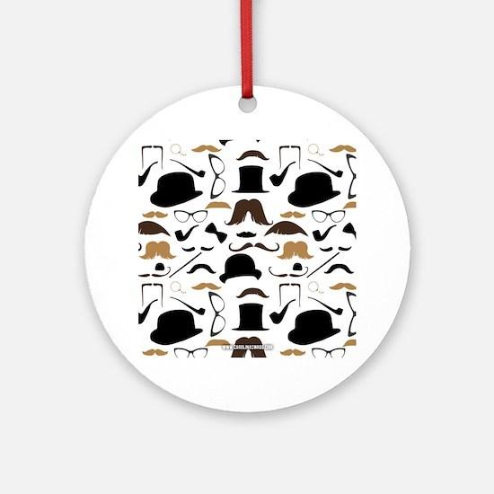 Mustache Ladies and Gentlemen Ornament (Round)