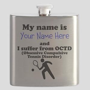Custom Obsessive Compulsive Tennis Disorder Flask