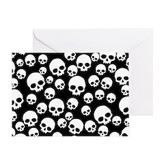 Random Skull Pattern Greeting Card