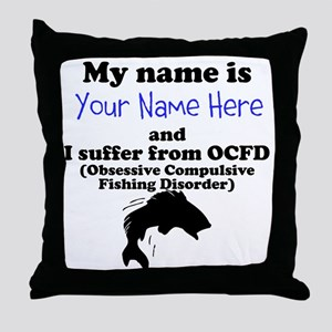 Custom Obsessive Compulsive Fishing Disorder Throw