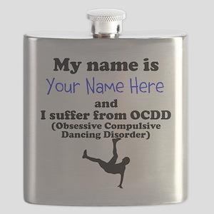 Custom Obsessive Compulsive Dancing Disorder Flask