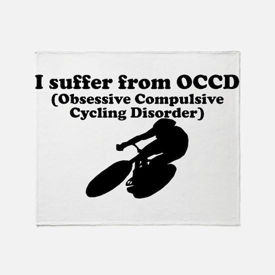 Obsessive Compulsive Cycling Disorder Throw Blanke