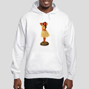 Retro Hula Girl Hooded Sweatshirt