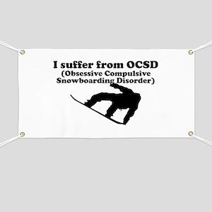 Obsessive Compulsive Snowboarding Disorder Banner