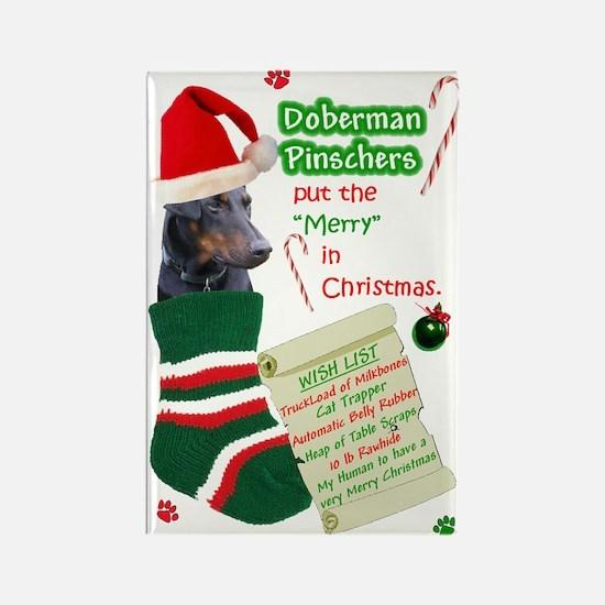Doberman (Black/Rust,Natural) Rectangle Magnet