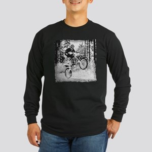 Fun in the woods dirt biking Long Sleeve Dark T-Sh