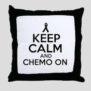 Cancer survival designs Throw Pillow