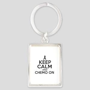 Cancer survival designs Portrait Keychain