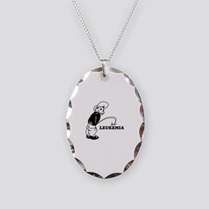 Cancer survival designs Necklace Oval Charm