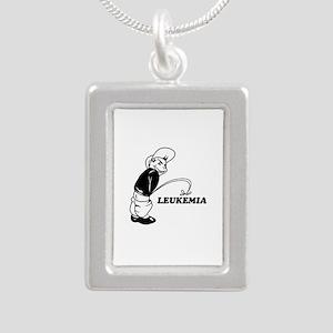 Cancer survival designs Silver Portrait Necklace