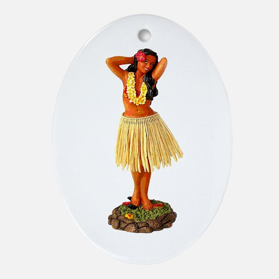 Hawaiian Merry Christmas Ornament (Oval)