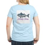 Ad-Free Stinky Tuna Women's Pink T-Shirt