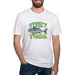 Ad-Free Stinky Tuna Fitted T-Shirt