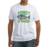 Ad-Free Stinky Tuna Fitted T-Shirt