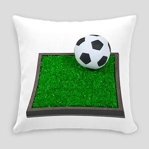 SoccerBallGrass101311 Everyday Pillow