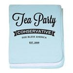 Tea Party Conservative baby blanket