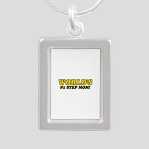Unique gifts for Step Mom Silver Portrait Necklace