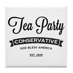 Tea Party Conservative Tile Coaster